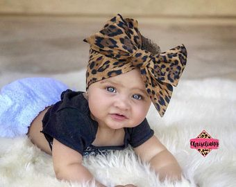 Bright Floral Headband Navy Blue Infant Child Baby Headwrap