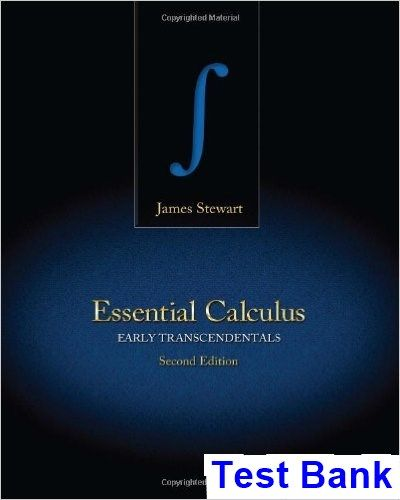 Essential Calculus Early Transcendentals 2nd Edition James Stewart