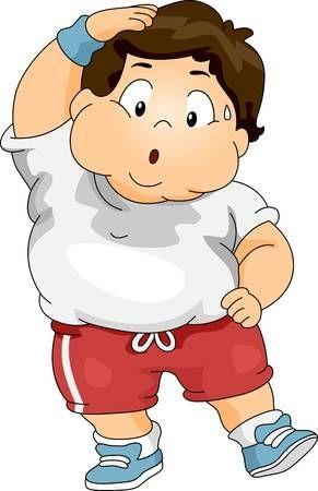 Ilustracion De Un Nino Con Sobrepeso Ejercicio Obesidad Dibujos Obesidad Infantil Ninos