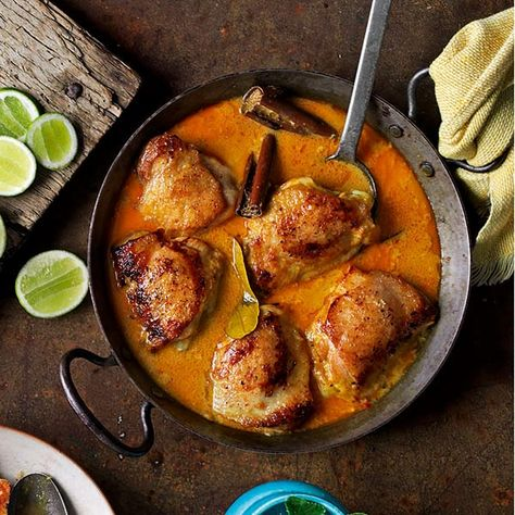 Serves this easy Malaysian-style chicken recipe with white fluffy rice.