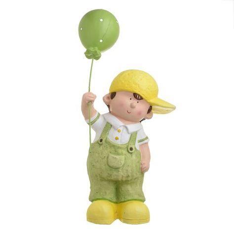 Bromwich Boy With Balloon Figurine Happy Larry Figurines Buddha Meditation Balloons