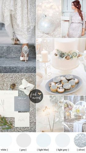Silver and White Winter Wedding For a glamorous winter wedding - Wedding Colors