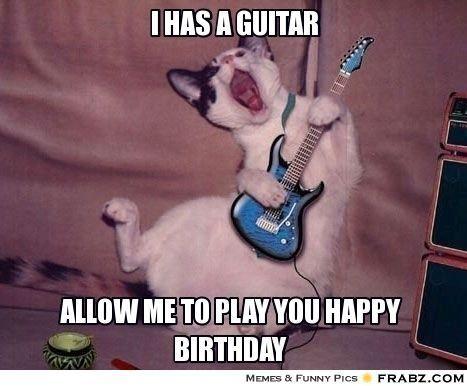 Funny Rock And Roll Birthday Memes Happy Birthday Guitar Birthday Meme Cat Memes