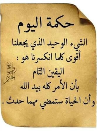 حكمة اليوم Words Intellegence Words Quotes