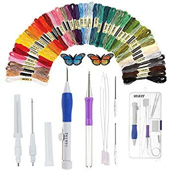 Embroidered Stitching Punch Needle Embroidery Needles Threaders DIY Sewing Set