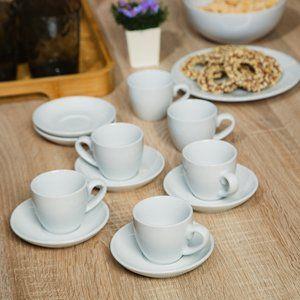 Jogo De Xicara De Cafe Com Pires Basic De Porcelana Branco Com 12 Pecas Jogo De Louca Jogos De Cafe Jogo De Xicaras Cafe