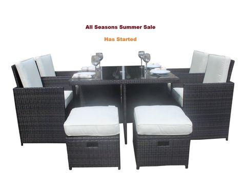 Vr Direct Jt04 Salon De Jardin En Rotin 9 Pieces Avec Table En