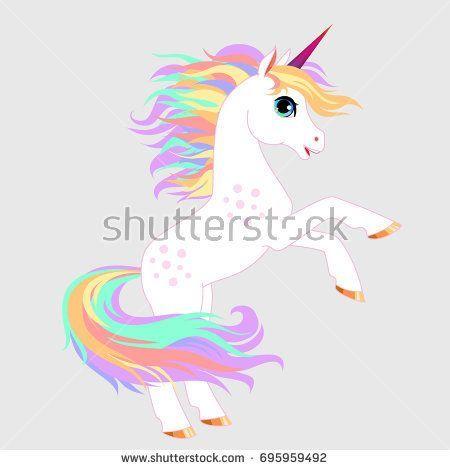 Unicorn Vector Illustration Magic Fantasy Horse Design For