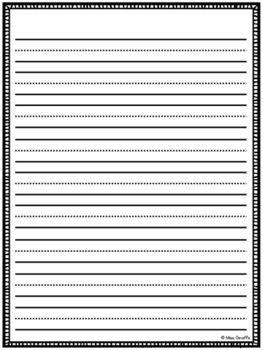Vertical Spalding Inspired Lined Paper Notebook Paper Template