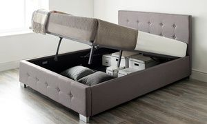 Outstanding Groupon Fabric Ottoman Storage Bed With Optional Bonnell Onthecornerstone Fun Painted Chair Ideas Images Onthecornerstoneorg