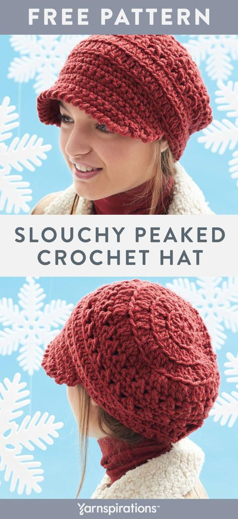 Free Crochet Hat Pattern This Stylish Slouchy Hat Features A Fun