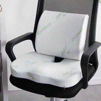 Bamboo Seat Lowerback Memory Foam Cushion Hip Support Car Posture Coccyx Lumbar Ebay In 2020 Memory Foam Seat Cushion Back Support Pillow Cushions