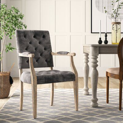 Jacques Upholstered Dining Chair Upholstery Color Charcoal In