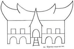Mewarnai Rumah Adat Minangkabau Dengan Gambar Gambar Sketsa