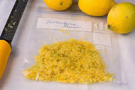 Como congelar, Ralladura de Limón.
