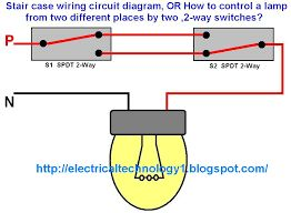 Staircase wiring circuit diagram how to control a lamp from 2 staircase wiring circuit diagram how to control a lamp from 2 places by 2 way switches electrical reference pinterest circuit diagram and greentooth Choice Image