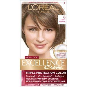 L Oreal Paris Excellence Hair Color 6 Light Brown Cvs In 2020 Loreal Paris Cool Hair Color Hair Color Light Brown