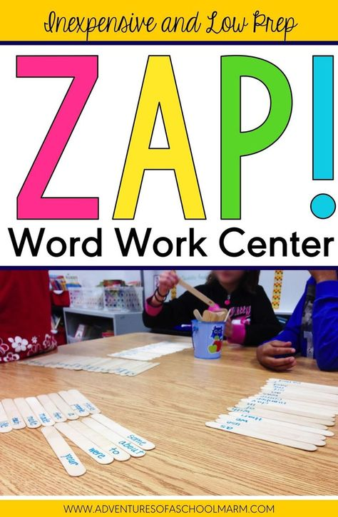 Do centers overwhelm you at times? Work Work centers don't need to be complicated or take a long time to prep each week. ZAP is the perfect solution. Learn how to make this inexpensive center that will last forever! Mine has been used for over 10 years an