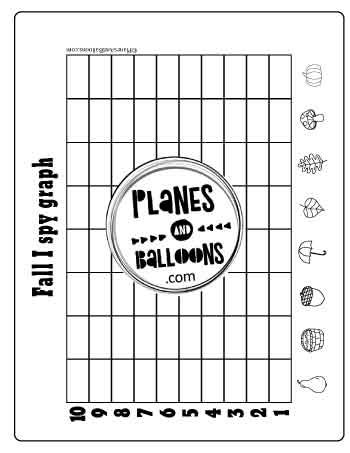 Fall I Spy Printable Activity Free Planes Balloons Let S Make Learning Fun Graphing Activities Graphing Printable Activities