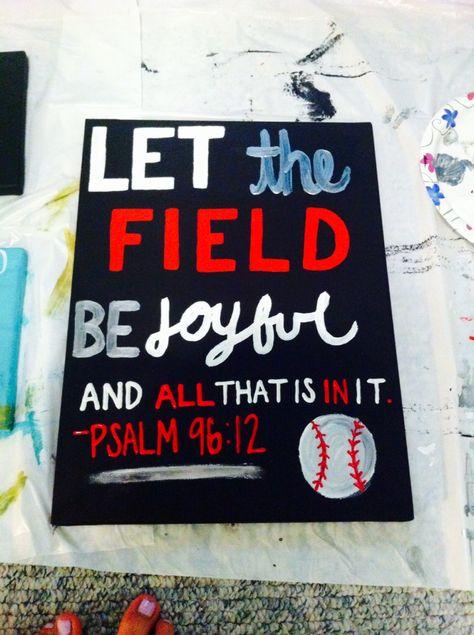 Baseball / sport bible verse