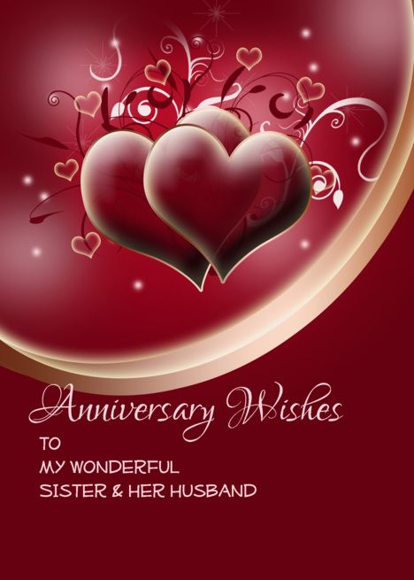 Anniversary Wishes For Sister And Brother In Law On Dark Red Hearts Card Ad Anniversary Wishes For Sister Wishes For Daughter Anniversary Wishes For Parents