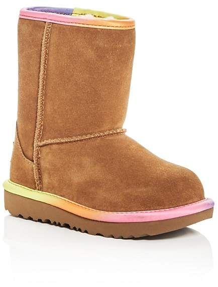 fdfa4ed9bd8 UGG® Girls' Classic Short II Rainbow Suede Boots - Walker, Toddler ...