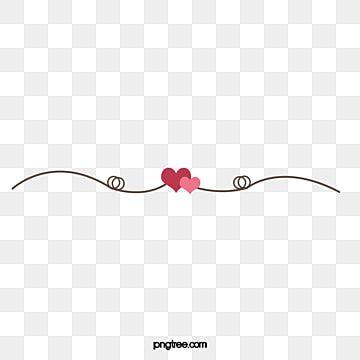 Love Clipart Line Clipart Small Fresh Romantic Lovely Style Dividing Line Line Small Fresh Style Dividing Dividing Cute Couple Art Logo Design Free Emoji Love