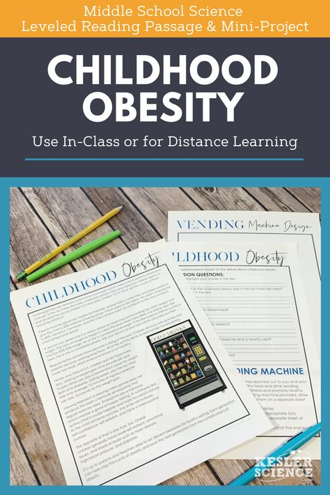 Science Reading Comprehension - Childhood Obesity