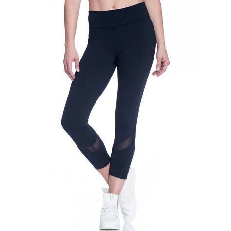 82a4a8f7d8 Women's Gaiam Om Mesh Capri Yoga Leggings, Size: Medium, Oxford ...