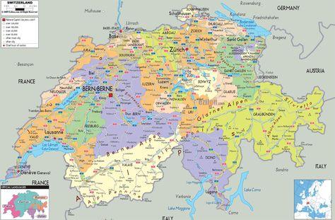 Cartina Del Austria.Mappa Della Svizzera Cartina Della Svizzera Svizzera Mappa Geografia