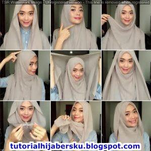 Tutorial Hijab Pashmina Simple Untuk Remaja Tanpa Ciput
