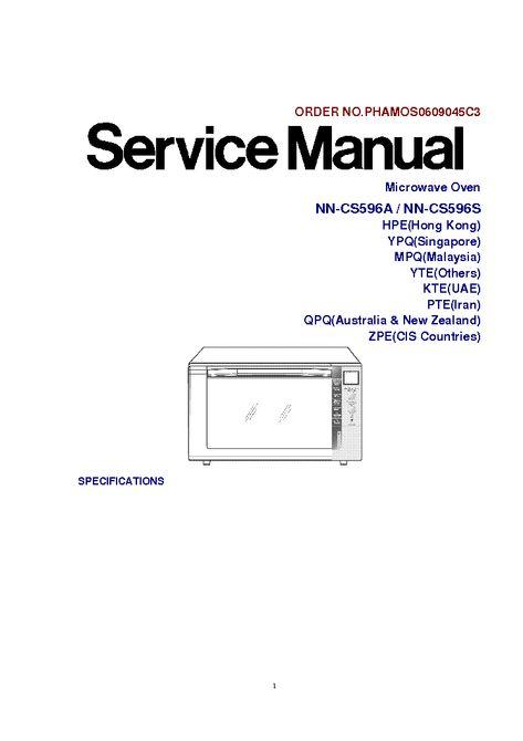 Panasonic Microwave Service ManualBestMicrowave
