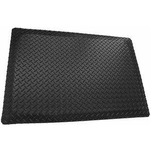 Rubber Cal Inc Diamond Plate Garage Flooring Roll In Black Wayfair Anti Fatigue Mat Diamond Plate Symple Stuff