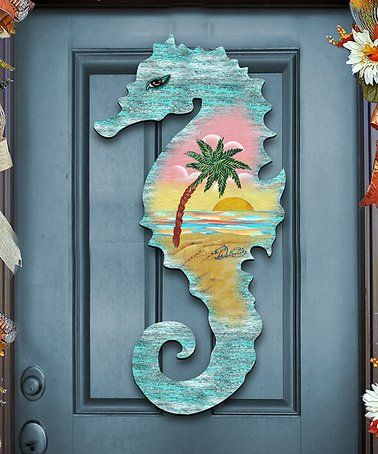 Seahorse Scenic Wood Outdoor Wall Decor Zulily Zulilyfinds