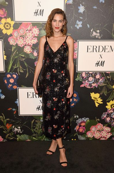 Alexa Chung attends the H&M x ERDEM Runway Show & Party at The Ebell Club of Los Angeles.