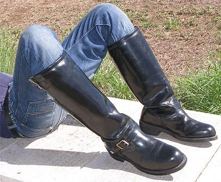 HI- SHINE, STEEL-TOED, THICK LEATHER