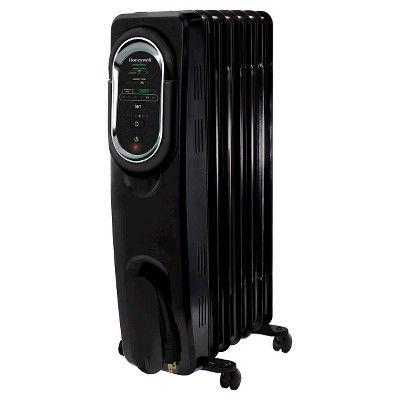 Honeywell Energy Smart Electric Radiator Heater Black Radiator Heater Electric Radiators Space Heater