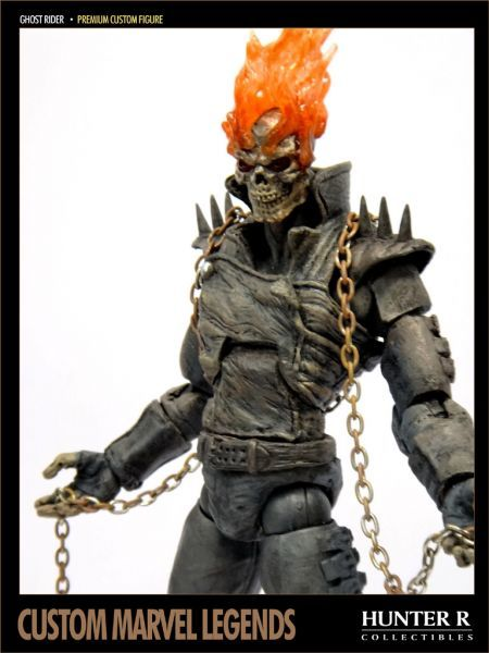 Ghost Rider custom by Hunter R | Geek stuff | Pinterest | Ghost rider, Action figures and Custom action figures