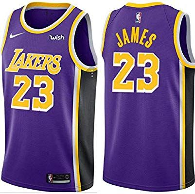 super popular 88a39 b8605 Amazon.com : jersey 2018-2019 Lebron Lakers Replica : Sports ...