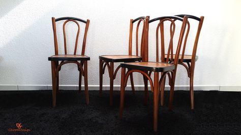 Fr Ensemble De 4 Chaises Bistrot 1920 Style Baumann Chaise