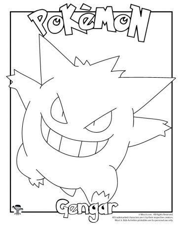 Gengar Coloring Page Coloring Pages Pokemon Coloring Pages