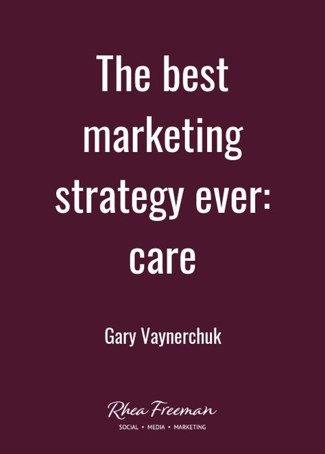 I ADORE Gary Vee. And he's so right on this. The best marketing strategy ever? Care. It's as simple as that... #garyvee #garyvaynerchuk #wordstoliveby #words #quote #quotes #motivation #motivationalquotes #inspiration #inspirational #inspirationalquotes