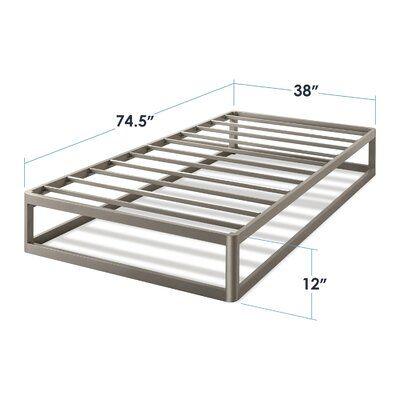 Best Price Quality Metal Platform Bed Frame Size Twin Bed Frame