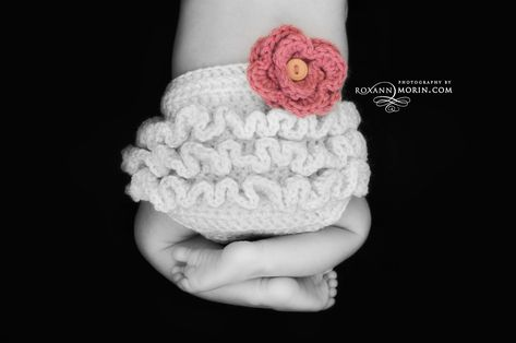Free Crochet Diaper Cover Pattern And I Added The Ruffles By Doing 3