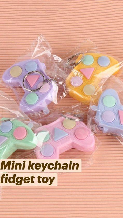 Mini keychain fidget toy