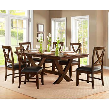 Valentia 7 Piece Dining Set Extendable Dining Table Bayside