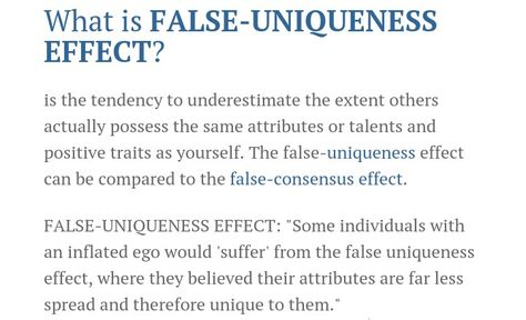 FalseUniqueness Effect  Personalities  Humor Psychology