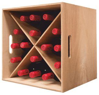 Botellero Cubo 16 Botellas Carinena Botellero Mueble Para Vino