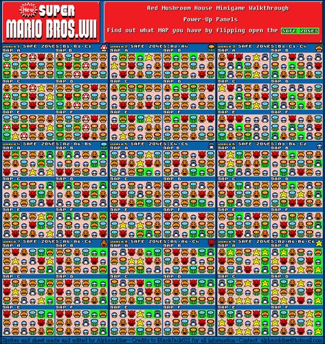 This Is A Map Of The Item Houses On New Super Mario Bros Wii First Flip Over The Squares In Green To Determine Which Va Mario Bros Super Mario Bros Mario