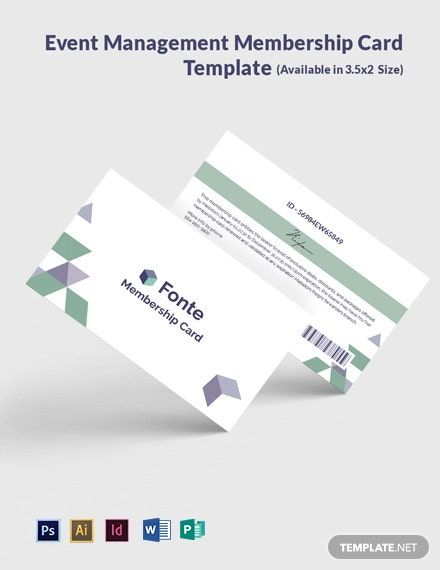 Instantly Free Download Free Digital Marketing Company Agency Membership Card Template Sample Example In Micr In 2020 Membership Card Event Management Card Template